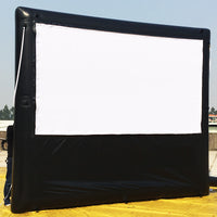 10x6FT Inflatable Frame Movie Screen Mattress Screen Home Theatre Durable Seamless No Wrinckle Screen, No Backing Screen; No Blower