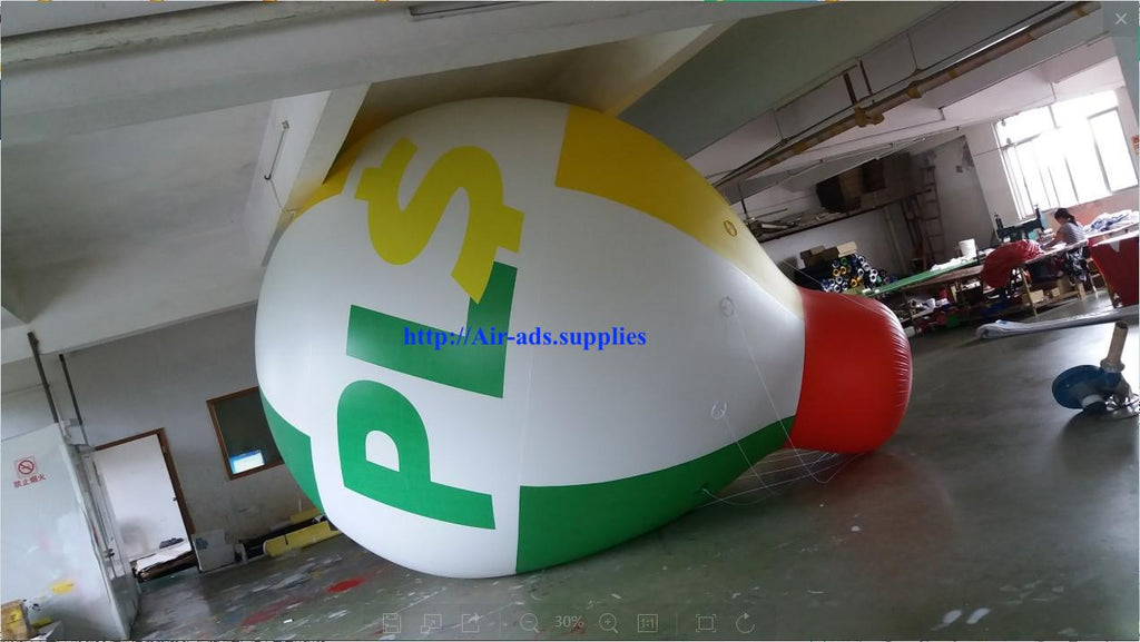 Air-Ads 16FT (5 Meter) Inflatable Hot Air Balloon Replica; Holiday Helium Balloons; Free Logo