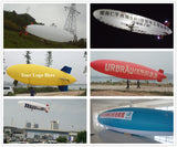 Air-Ads 14M (45 ft) RC Blimp Giant Radio Control Zeppelin Airship Double Engines Auto Pressure Adjustment for Advertising; Science Research; Construction Work incl. 2 Days On Site Training