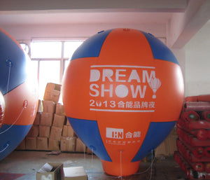 Air-Ads 13FT (4 Meter) Inflatable Hot Air Balloon Replica; Holiday Helium Balloons; Free Logo