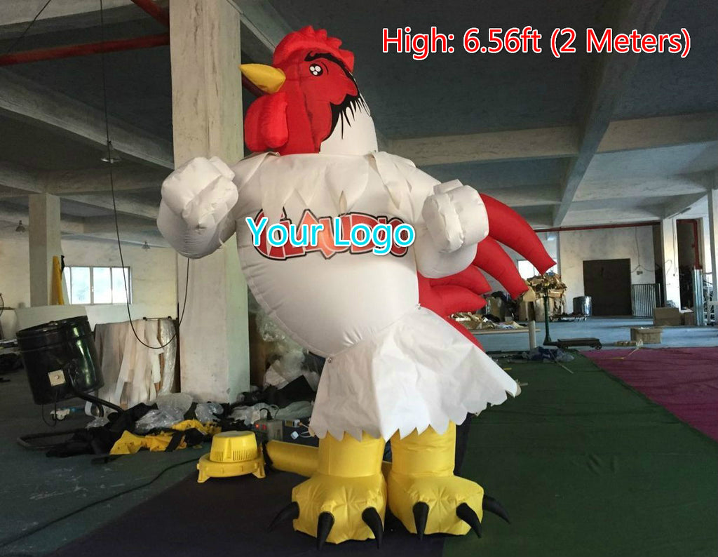 6.5ft (2M) Rooster Inflatable Decor Advertising Promotion Giant Chicken; NO BLower