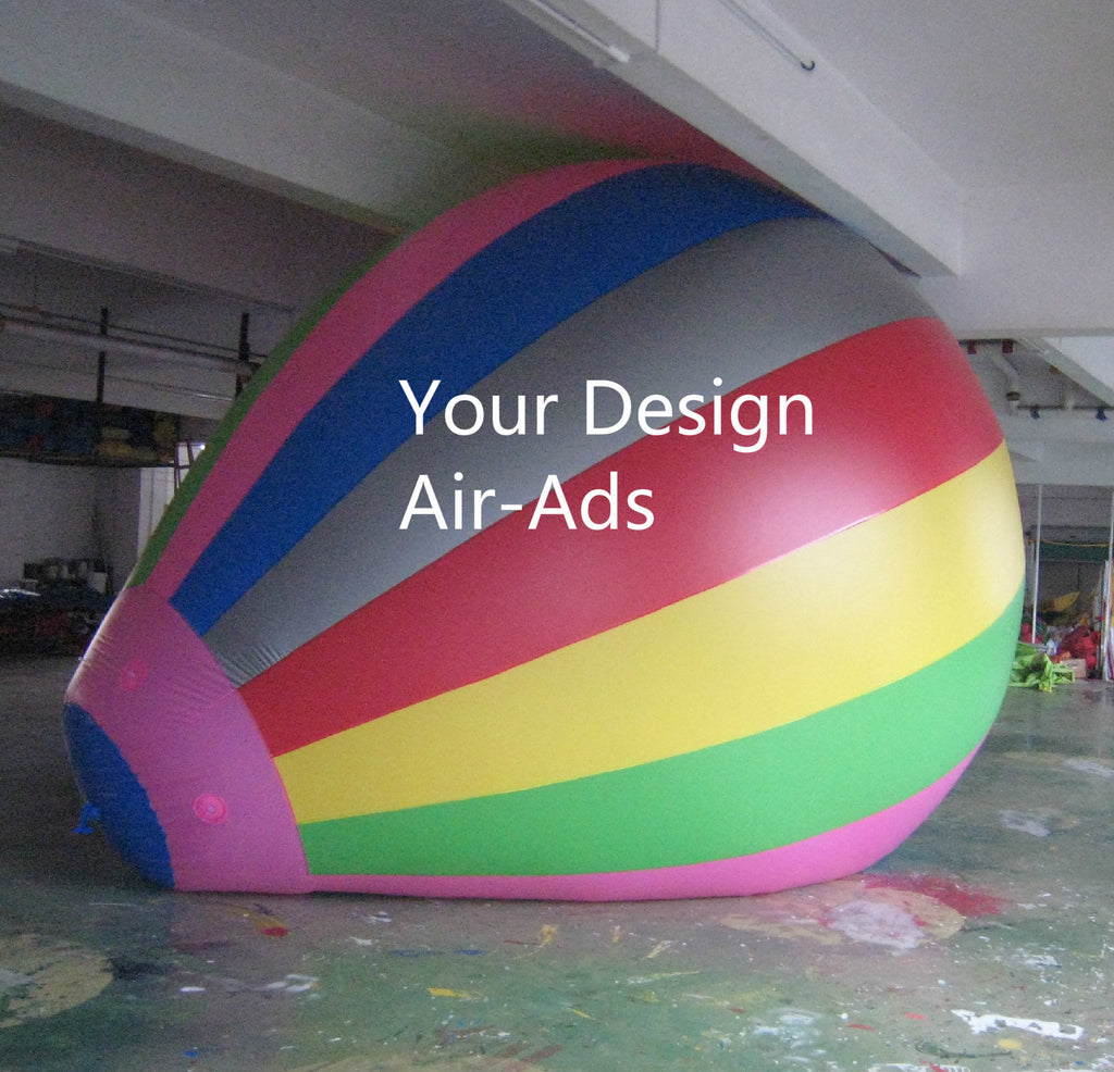 Air-Ads 10FT (3 Meter) Inflatable Hot Air Balloon Replica; Holiday Helium Balloons; Free Logo
