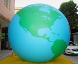 Air-Ads 5ft (1.5m) Inflatable Balloon Globe Map World Balloon /Free Logo (PVC)
