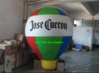 Air-Ads 6.5ft (2 Meter) Inflatable Hot Air Balloon Replica; Holiday Helium Balloons; Free Logo