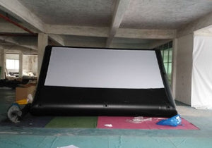 14x7FT Inflatable Frame Movie Screen Mattress Screen Home Theatre Durable Seamless No Wrinckle Screen, No Backing Screen No Blower