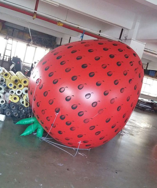 11.5ft (3.5m) Giant Inflatable Flying Strawberry Balloon /Free Logo