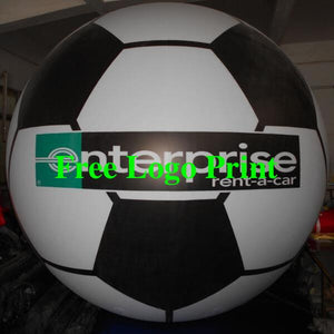 Air-Ads 11ft 3.3m Giant Inflatable Football Huge Flying Balloon Exquisite Print/Free Logo print (PVC)