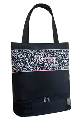 DSK-02 Damask Medium Dance Tote