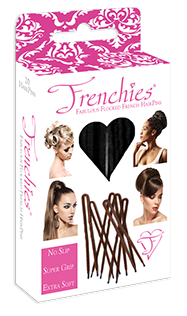 Frenchies Ultra Flocked HairPins Black