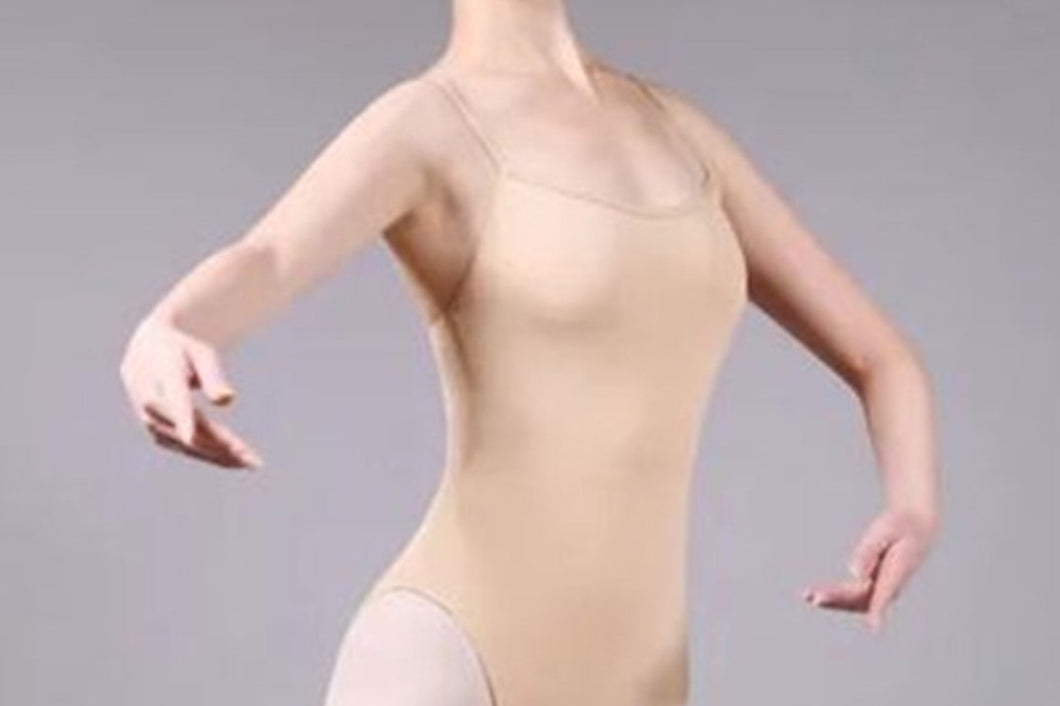 FL-C2027 Child Camisole Nude Leotard Milk Fiber Dance Bodyliner with Front Lining