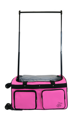 Medium Pink 4x Dual Wheel Bag