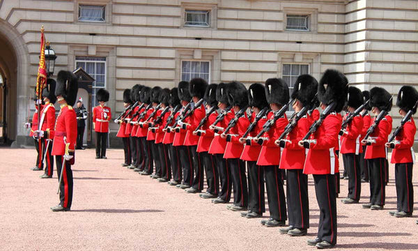 The picture of the ceremony of Changing the Guard at Buckingham Palace