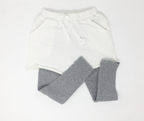Comfy Leggings with shorts, Trousers - Little Pancakes