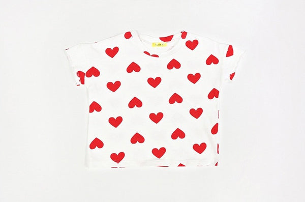 Heart T-shirt, T-Shirts - Little Pancakes
