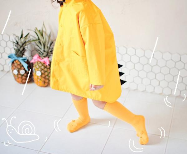 Kids Dinosaur Raincoat Waterproof Jacket - Yellow, Coats&Jackets - Little Pancakes