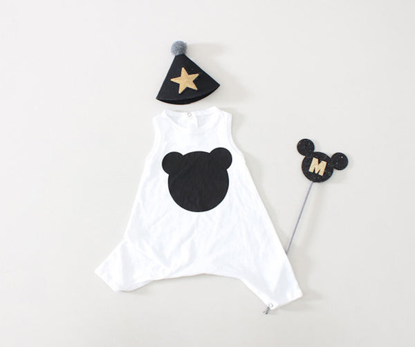 Bear Sleeveless Romper, Romper - Little Pancakes