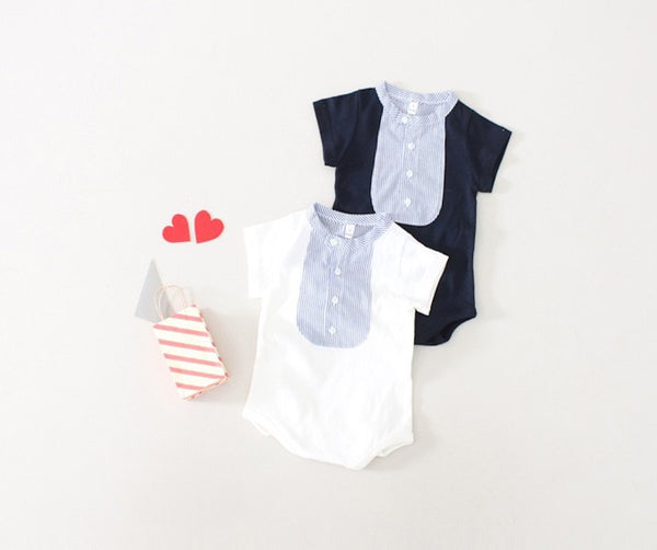China Collared Romper, Romper - Little Pancakes
