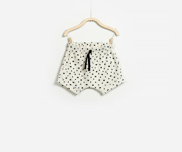 White Adjustable Baby Boy Terry Shorts, Shorts - Little Pancakes