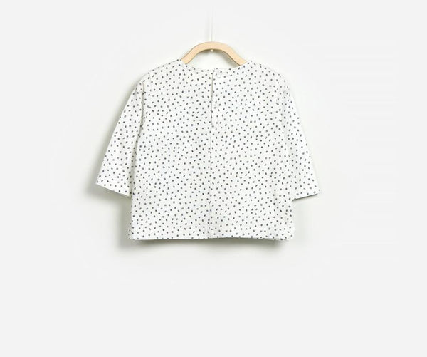 Dotted Half Sleeve T-Shirt, T-shirts - Little Pancakes