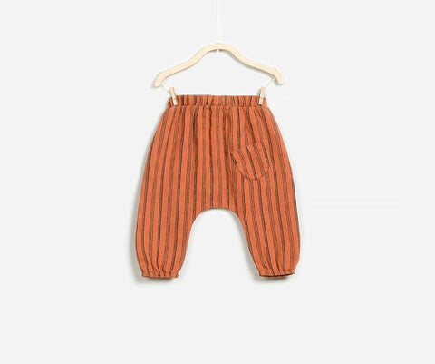 Orange Nougat Woven Trousers, Trousers - Little Pancakes