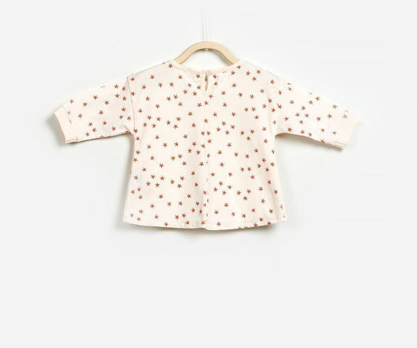 Star Sprinkled  Baby Girl Jumper, Jumpers - Little Pancakes