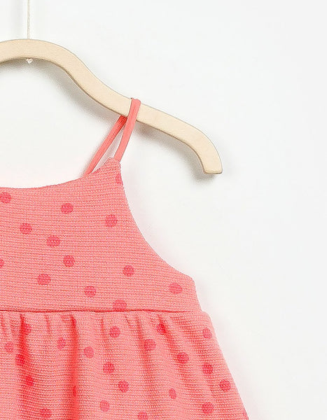 Baby Girl Dotted Sleeveless Dress, Dresses - Little Pancakes