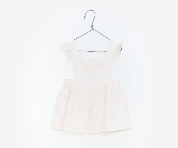Short Sleeve Woven Dungaree  Skirt, Skirts - Little Pancakes