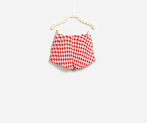 American Dream Vichy Shorts, Shorts - Little Pancakes