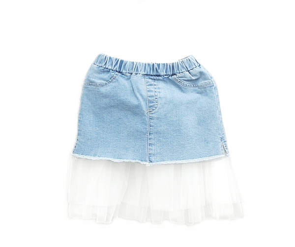 Lace Denim Skirt, Skirts - Little Pancakes