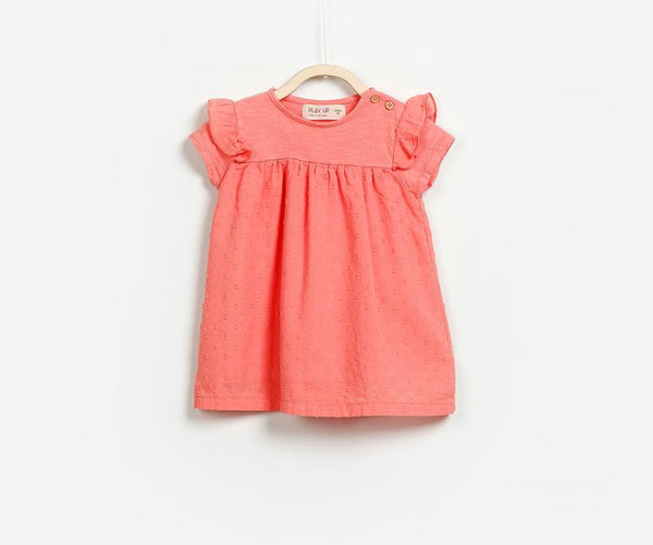 Frilled Sleeve Baby Girl Combi Dress, Dresses - Little Pancakes