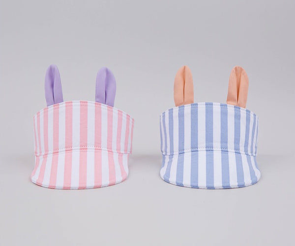 Cotton Striped Keno Sun Cap, Accessories - Little Pancakes