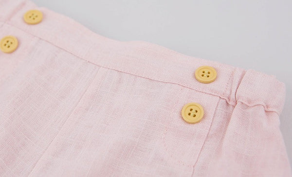 Linen Blended Shorts, Shorts - Little Pancakes