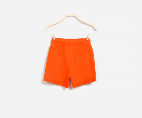 Luminous Orange Fleece Shorts, Shorts - Little Pancakes