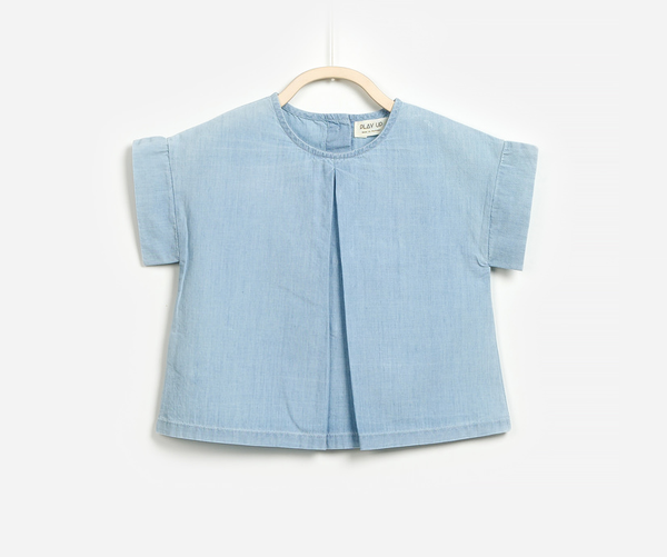 Chambray Blouse, Blouses - Little Pancakes
