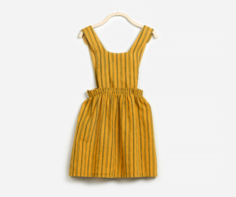 Woven Dungaree Skirt, Skirts - Little Pancakes