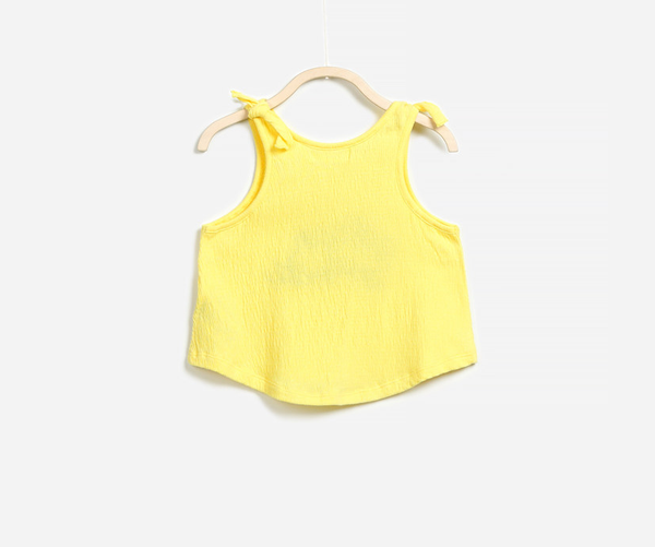 Yellow Tassel Tank Top, Tops - Little Pancakes