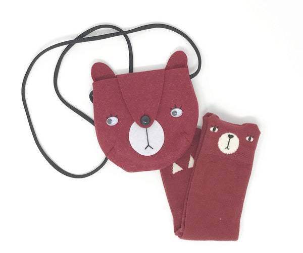 Bear Bag & Socks Set, Accessories - Little Pancakes