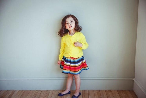 Colourful Striped Skirt, Skirts - Little Pancakes