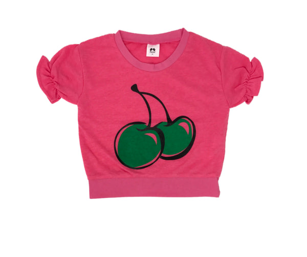 Cherry Short Sleeve T-Shirt, T-shirts - Little Pancakes