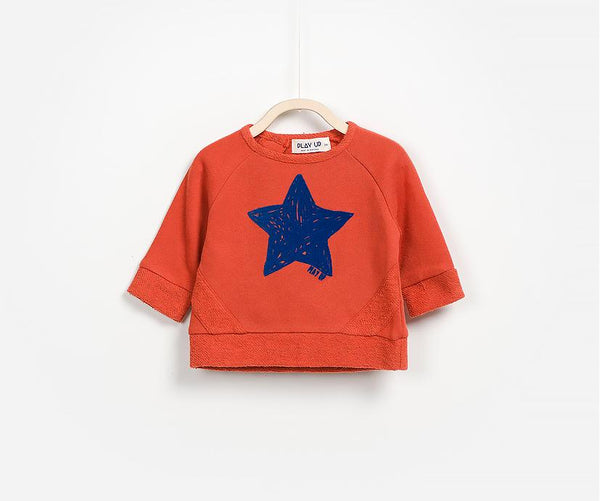 Cotton Star Jumper, Jumpers - Little Pancakes