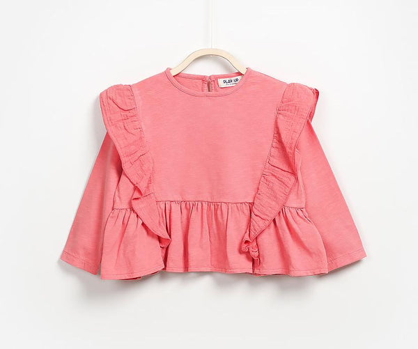 Frilled Long Sleeve T-Shirt, T-shirts - Little Pancakes
