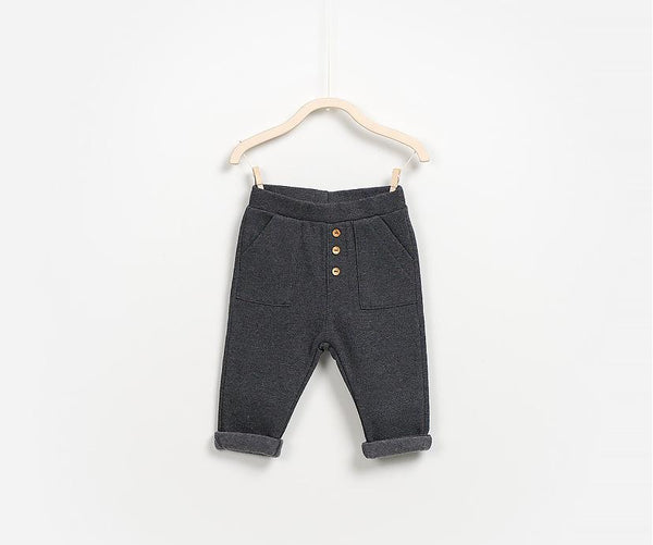 Pull-on Fleece Trousers, Trousers - Little Pancakes