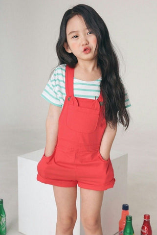 Cat Dungaree Shorts, Shorts - Little Pancakes