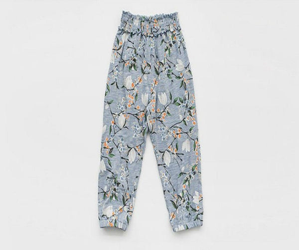 Flower Loose Fit Trousers, Trousers - Little Pancakes