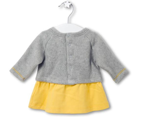 Baby Bear Pom Pom Dress, Dresses - Little Pancakes