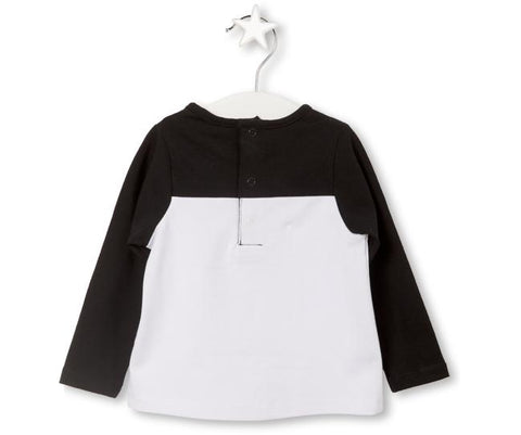 Black & White Long Sleeve Top, Tops - Little Pancakes