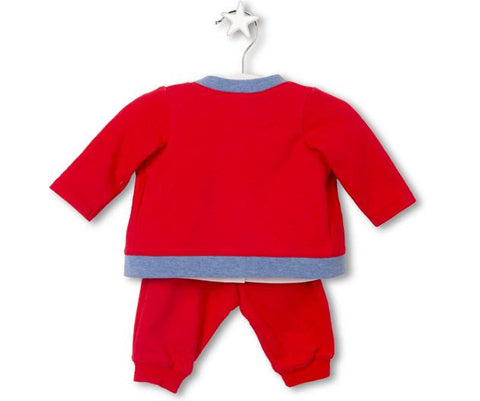 Chu Chu Train Baby Boy Three-Piece Set, Sets - Little Pancakes