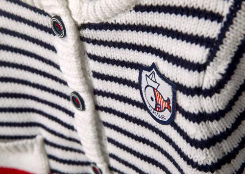 Classy Marine Cardigan for Baby Boys, Cardigans - Little Pancakes