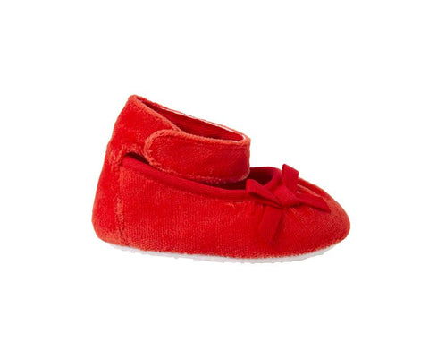 Little Red Ribbon Shoes, Shoes - Little Pancakes
