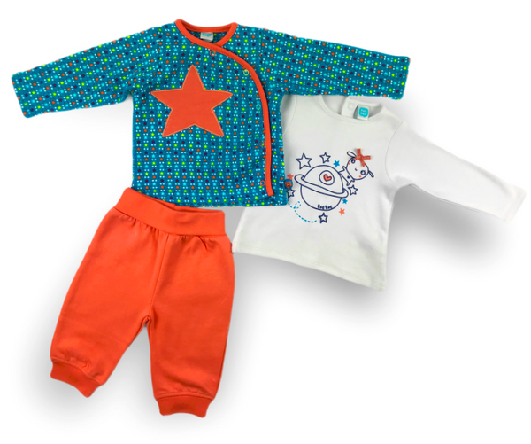Stars & Planets Three-Piece Set, Sets - Little Pancakes